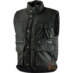 VEST COTTON POLYESTER MULTIPOCKETS PADDED COLOR NERO TG