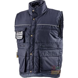 VEST COTTON POLYESTER MULTIPOCKETS PADDED WITH PLASTIC SHEETING