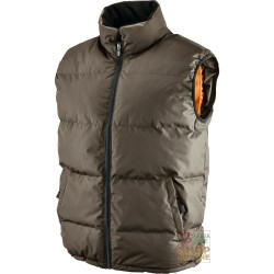 VEST POLYESTER PVC PADDED BROWN TG S XXL