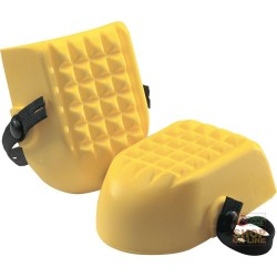KNEE PADS, POLYURETHANE-PAIR, COLOR YELLOW
