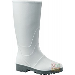 KNEE-LENGTH PVC NITRILE OUTSOLE, THE GREY MAN, THE COLOUR WHITE