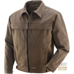 JACKET 100% COTTON CANVAS COLOR MUD TG S XXXL
