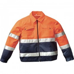 JACKET HV TOOLS ORANGE/BLUE WITH REFLECTIVE BANDS 3M TG. 46 TO