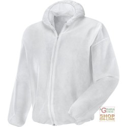 JACKET IN PLP GR 40 CLOSURE ZIP COLOR WHITE TG M-L-XL-XXL