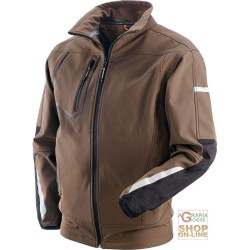 JACKET IN POLYESTER ELASTANE COLOUR BROWN BLACK TG S XXL