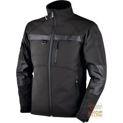 JACKET IN SOFTSHELL WITH ZIPPER AT THE BOTTOM WITH PLASTIC