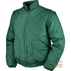 JACKET POLYESTER COTTON WITH DETACHABLE SLEEVES COLOR GREEN TG