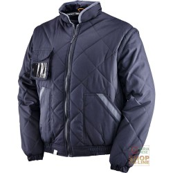 JACKET POLYESTER / COTTON WITH PLASTIC SHEETING COLOR BLUE TG S