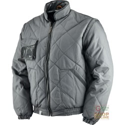 JACKET POLYESTER / COTTON WITH PLASTIC SHEETING COLOR GREY TG S