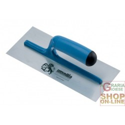 AUSONIA STEEL TROWEL, SMOOTH PLASTIC HANDLE CM. 28x12