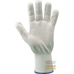 GLOVES ANTI-CUT FABRIC DYNEEMA® COLOR WHITE TG L) PER PIECE