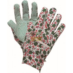 GLOVES GARDEN CANVAS BEADED WOMEN'S EC-1