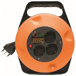CABLE REEL 4 SOCKET OUTLETS 10/16A WITH GROUND 3X1 MT. 10