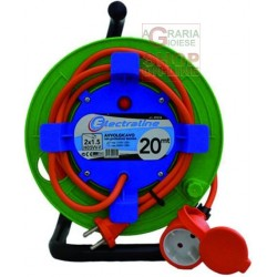 CABLE REEL GARDEN POWER SOCKET WITH PLUG 16A 2X1,5 MT. 20 ART.