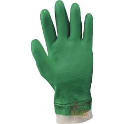 COATED GLOVE PVC WRIST KNITTED COLOR NERO TG S-M-L-XL