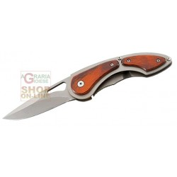 HERBERTZ FOLDING KNIFE WITH BLADE STAINLESS STEEL HANDLE AND