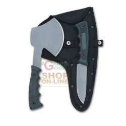 HERBERTZ SET HUNTING KNIVES AXE AND KNIFE RUBBER HANDLE WITH