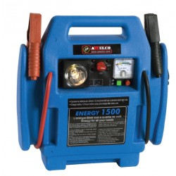 JUMP STARTER POWER 1600 BOOSTER STARTER CHARGER FLASH COMPRESSOR