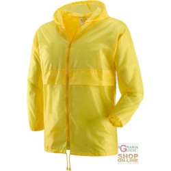K WAY ZIPPER COLOR YELLOW TG M-L-XL-XXL