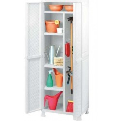 KETER CABINET THE FOUR SHELVES CM.65X45X184h broom WHITE