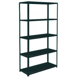 KIT SHELF METAL BLACK EXTRAPESANTE CM. 100X40 R