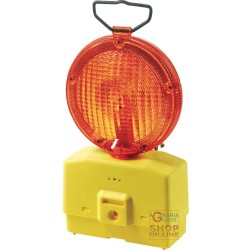 LAMP FOR ROAD BLINKING YELLOW GLASS, DIAM 18 WITH MOUNTING