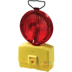 LAMP FOR ROAD BLINKING RED GLASS, DIAM 18 WITH MOUNTING BRACKET