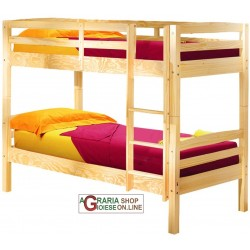 Bunk BED WITH conversion INTO 2 SINGLE BEDS Cm. 200x102x148H