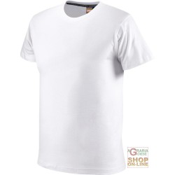 T-SHIRT COTTON HALF SLEEVE GR 110 COLOR WHITE TG S XXL