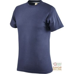 T-SHIRT COTTON HALF SLEEVE GR 110 COLOR BLU TG S XXL