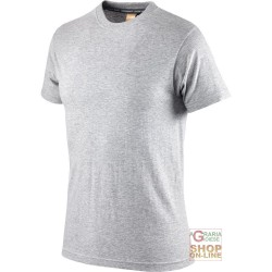 T-SHIRT COTTON HALF SLEEVE GR 110 COLOR GREY MELANGE TG S XXL