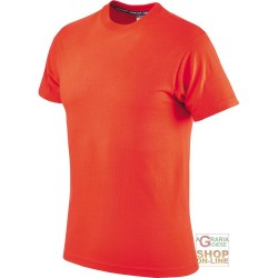T-SHIRT COTTON HALF SLEEVE 145 GR COLOR ORANGE TG S XXL