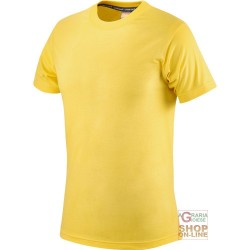 T-SHIRT COTTON HALF SLEEVE 145 GR COLOR YELLOW TG S XXL