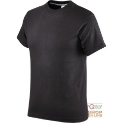 T-SHIRT COTTON HALF SLEEVE 145 GR BLACK TG S XXL