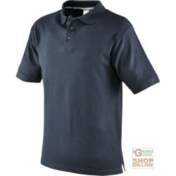 POLO SHIRT 100% CARDED COTTON COLOR BLUE TG S XXL