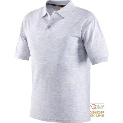 POLO SHIRT 100% CARDED COTTON COLOR GREY TG S XXL