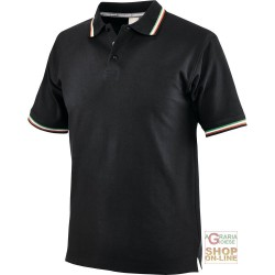 POLO SHIRT 100% CARDED COTTON COLOR BLACK TG S XXL