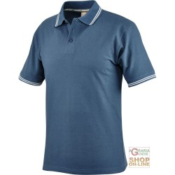 POLO SHIRT 100% CARDED COTTON GR 190 COLOR BLU TG S XXL