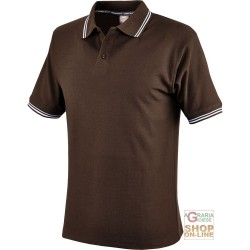 POLO SHIRT 100% CARDED COTTON GR 190 COLOR BROWN TG S XXL