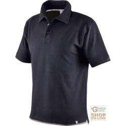 POLO SHIRT 100% CARDED COTTON GR 190 COLOR BLACK DOVE GREY TG S