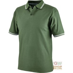 POLO SHIRT 100% CARDED COTTON GR 190 COLOR GREEN TG S XXL