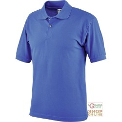 POLO SHIRT 100% COMBED COTTON GR 190 CA BLUE COLOR ROYAL TG M