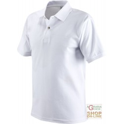 POLO SHIRT 100% COMBED COTTON GR 190 AC COLOR WHITE TG S XXL
