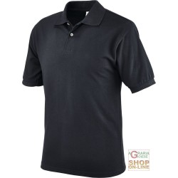 POLO SHIRT 100% COMBED COTTON GR 190 CA COLOR BLACK TG S XXL