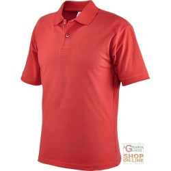 POLO SHIRT 100% COMBED COTTON GR 190 CA RED TG M XXL