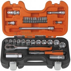 BAHCO SERIES SOCKET WRENCHES PCS. 33 1/4 AND 3/8 INCH
