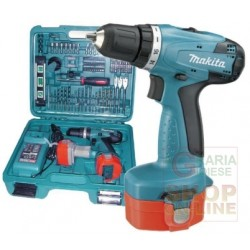 MAKITA DRILL DRIVER WITH PERCUSSION 2 BATTERIES 12V 1.3 AH
