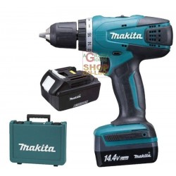 MAKITA DRILL WITH 2 BATTERIES 14 VOLT LITHIUM DF347DWE WITH CASE