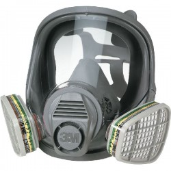 GAS MASK 3M 6800 CE FACIAL WITH POLYCARBONATE VISOR WITHOUT