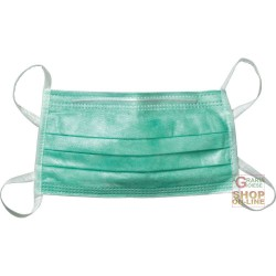 DUST MASK WITH ELASTIC, PACK OF 50 PIECES COLOR GREEN